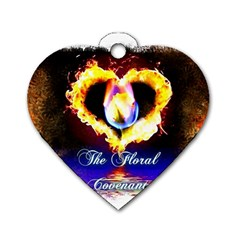 TheFloralCovenant Dog Tag Heart (Two Sided)