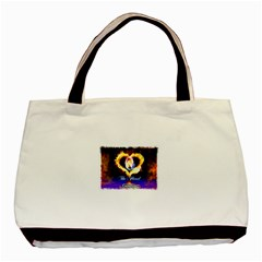 TheFloralCovenant Twin-sided Black Tote Bag