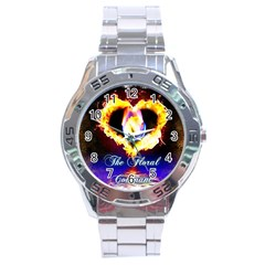 Thefloralcovenant Stainless Steel Watch (men s)