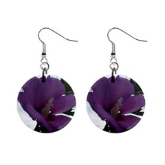 Hibiscus 1  Button Earrings