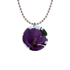 Hibiscus 1  Button Necklace