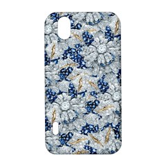 Flower Sapphire and White Diamond Bling LG Optimus P970 Hardshell Case