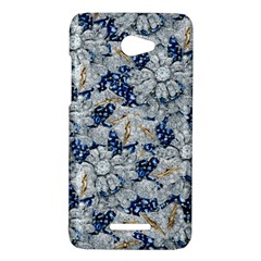 Flower Sapphire and White Diamond Bling HTC X920E(Butterfly) Case