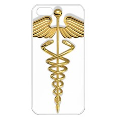 Caduceus Medical Symbol 10983331 Png2 Apple Iphone 5 Seamless Case (white)