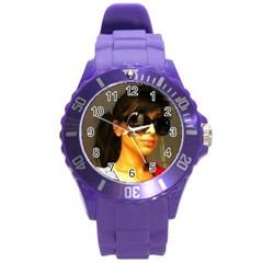 Sans Titre Round Plastic Sport Watch Large