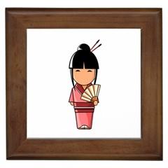 Japanese Geisha Framed Ceramic Tile