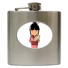 Japanese Geisha Hip Flask