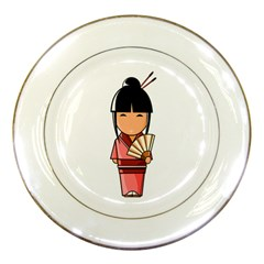 Japanese Geisha Porcelain Display Plate