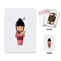 Japanese Geisha Playing Cards Single Design