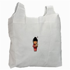 Japanese Geisha Recycle Bag (two Sides)