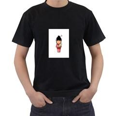 Japanese Geisha Mens' T-shirt (Black)