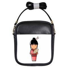 Japanese Geisha Girl s Sling Bag
