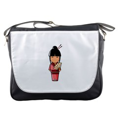 Japanese Geisha Messenger Bag