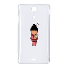 Japanese Geisha Sony Xperia TX Hardshell Case
