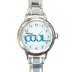 Cool Designs Store Round Italian Charm Watch