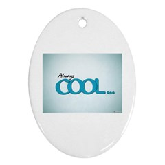Cool Designs Store Oval Ornament