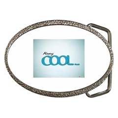Cool Designs Store Belt Buckle (Oval)