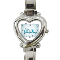 Cool Designs Store Heart Italian Charm Watch
