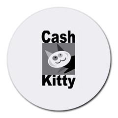 Cash Kitty Logo 8  Mouse Pad (round)