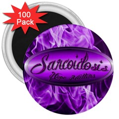 Flaming Hope  3  Button Magnet (100 Pack)