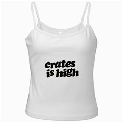 Crates Is High - Black Print White Spaghetti Top