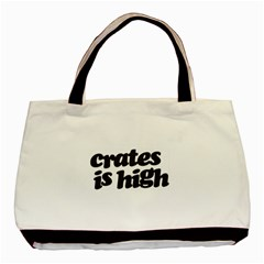 Crates Is High   Black Print Twin Sided Black Tote Bag