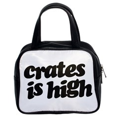 Crates Is High - Black Print Classic Handbag (Two Sides)