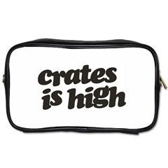 Crates Is High   Black Print Travel Toiletry Bag (one Side)