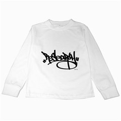 RDLX Handstyle - Black Print Kids Long Sleeve T-Shirt