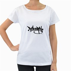 Rdlx Handstyle   Black Print Womens' Maternity T Shirt (white)