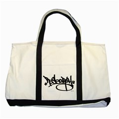 RDLX Handstyle - Black Print Two Toned Tote Bag
