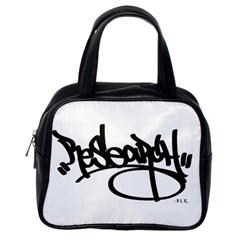 RDLX Handstyle - Black Print Classic Handbag (One Side)