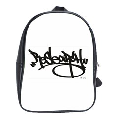 RDLX Handstyle - Black Print School Bag (Large)