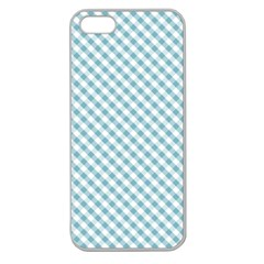 gingham_aqua Apple Seamless iPhone 5 Case (Clear)