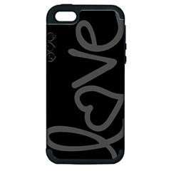 love Apple iPhone 5 Hardshell Case (PC+Silicone)