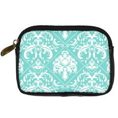 Tiffany Blue And White Damask Digital Camera Leather Case