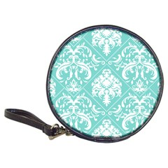 Tiffany Blue and White Damask CD Wallet
