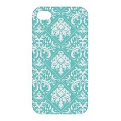 Tiffany Blue and White Damask Apple iPhone 4/4S Hardshell Case