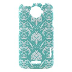 Tiffany Blue and White Damask HTC One X Hardshell Case