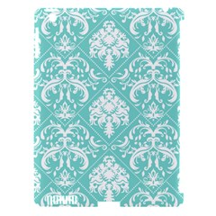Tiffany Blue and White Damask Apple iPad 3/4 Hardshell Case (Compatible with Smart Cover)