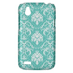 Tiffany Blue and White Damask HTC T328W (Desire V) Case