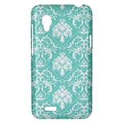 Tiffany Blue and White Damask HTC Desire VT T328T Hardshell Case