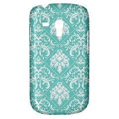 Tiffany Blue and White Damask Samsung Galaxy S3 MINI I8190 Hardshell Case