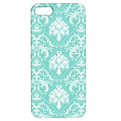 Tiffany Blue And White Damask Apple Iphone 5 Hardshell Case With Stand