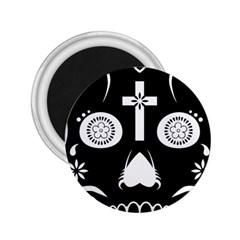 Sugar Skull 2.25  Button Magnet