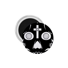 Sugar Skull 1 75  Button Magnet
