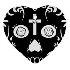 Sugar Skull Heart Ornament