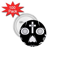 Sugar Skull 1.75  Button (100 pack)