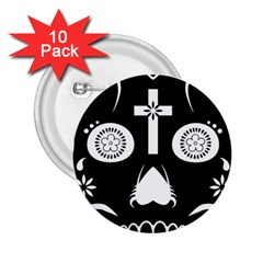 Sugar Skull 2.25  Button (10 pack)