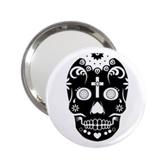 Sugar Skull Handbag Mirror (2.25 )